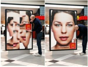 Publicidad interactiva en la calle: Mc Donald's